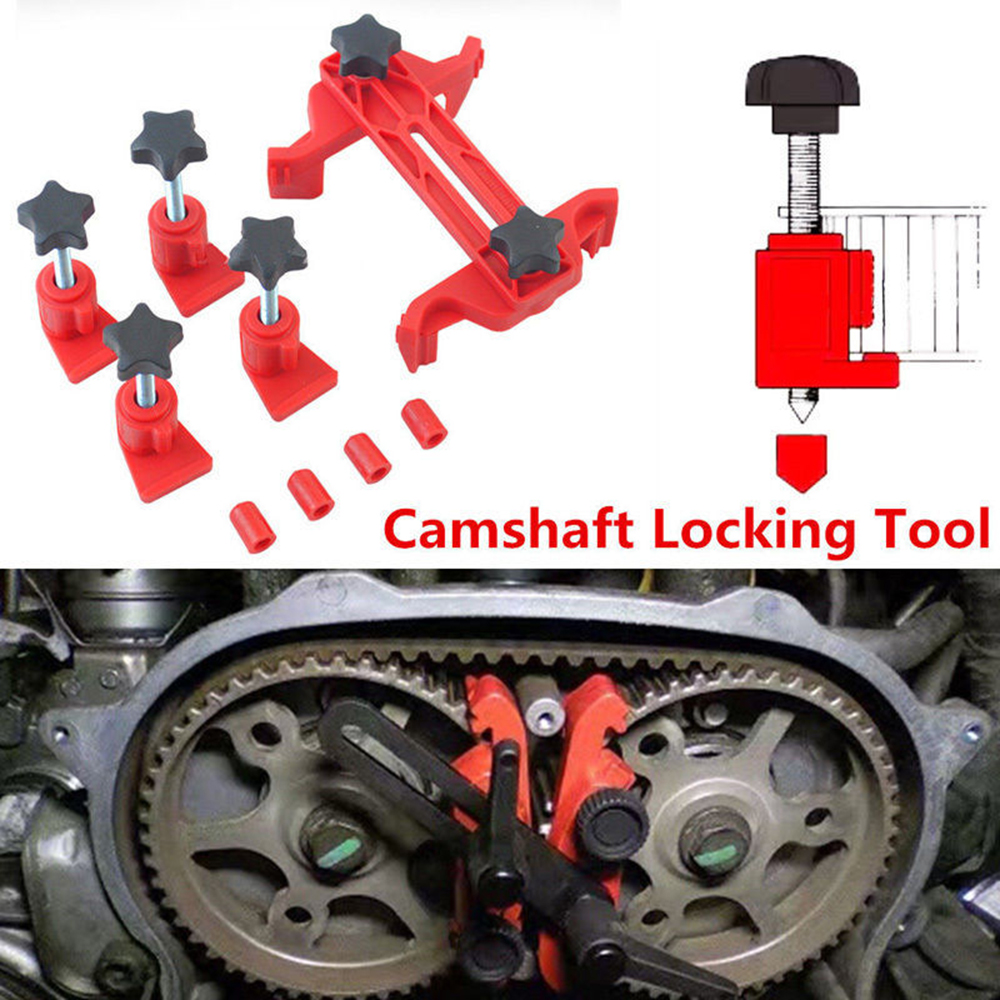 1Set Camshaft Lock Holder Car Engine Timing Belt Disassembly Tools Cam Timing Locking Tool Set Universal Cam Automotive Kit