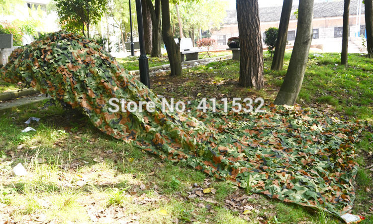 3X4m camouflage net Woodland Leaves Camo Net For Hunting Camping Military Photography NE57313350