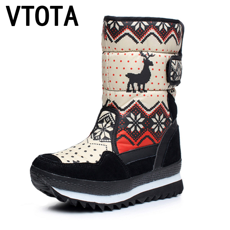 VTOTA Women Snow Boots Warm Ankle Boots For Women Platform Casual  Botas Mujer Wedges Women Shoes bota feminina Winter Boots E14 vtota snow boots women winter boots hot warm fur flat platform shoes women slip on shoes for women botas mujer ankle boots e62