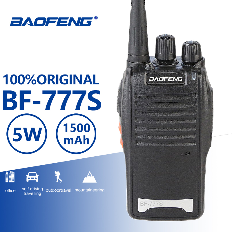 Baofeng BF-777S Portable Walkie Talkie UHF 400-470MHz Portable Radio Comunicador Transmitter Hf Transceiver With BF-888s Headset