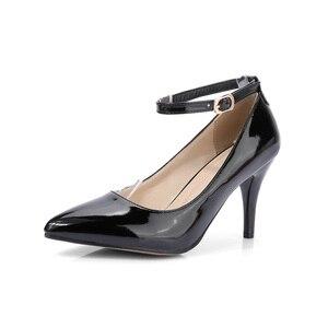Image 3 - מותג חדש מכירות סקסיות נשים מישמש שחורות עירום משאבות עקבים גבוהים ספייק נעלי כלה גברת HS193 בתוספת גודל קטן גדול 10 31 45 47