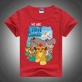 Novas Crianças t-shirt, tigre Leão Dos Desenhos Animados Projeto Meninos camiseta Crianças Tops de Manga Curta T-shirt Das Meninas do Algodão T Casual Sports Top