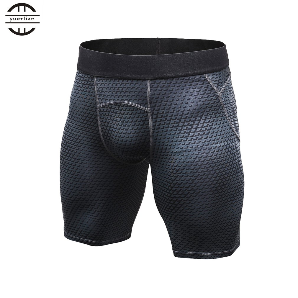 Yuerlian Elastic Tight Short Pants Breathable Sports Pants Exercise Training Short For Man Quick Drying Compression Shorts