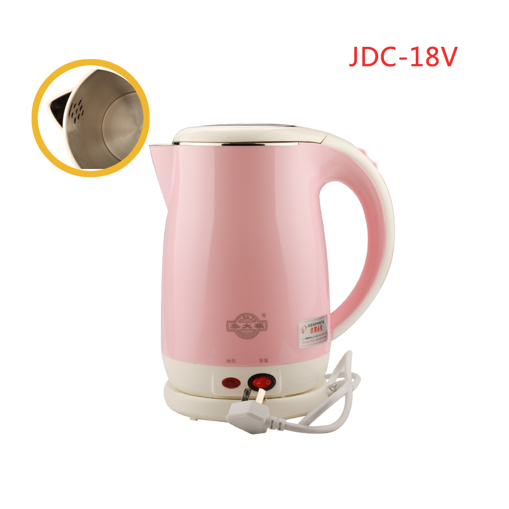 JDC-18V 1.8L Stainless Steel Electric Kettle With Auto-Off Function Quick Heat Water Heating Kettle Pink акриловая ванна belbagno bb42 1700