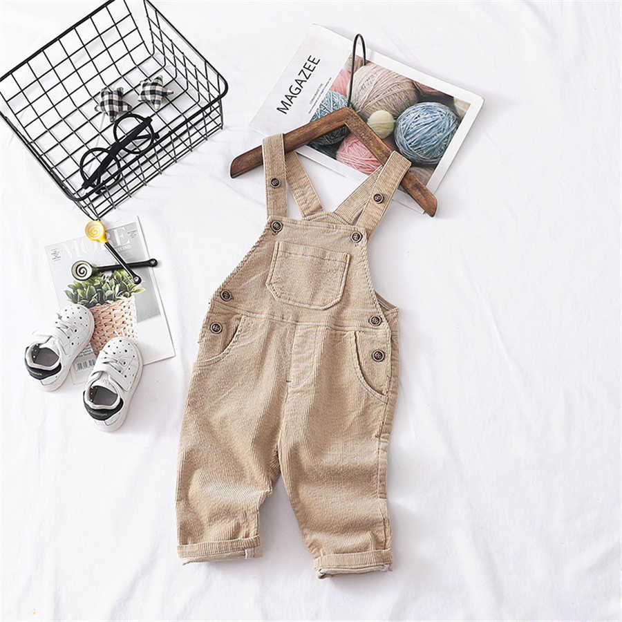 ed374a0a23c ... 2019 Spring Kids Overalls Children Corduroy Jumpsuit for Boys Girls  Pure Cotton 1 2 3 4 ...