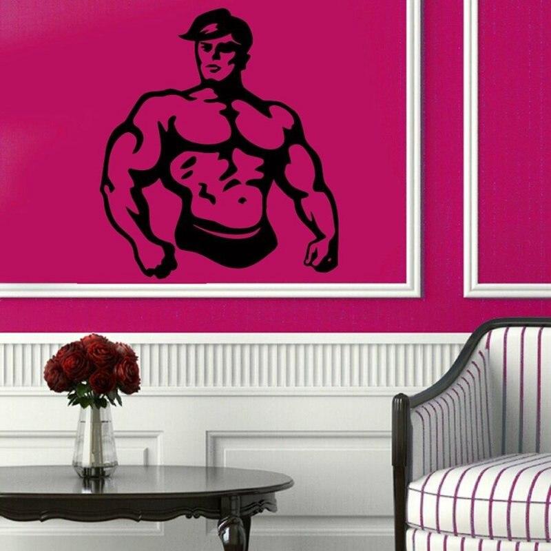 Gym Sticker font b Fitness b font Decal font b Bodybuilding b font Posters Name Vinyl