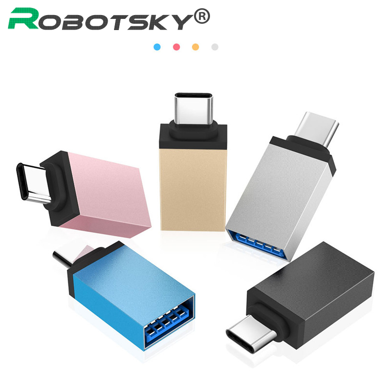 USB Type C To USB 3.0 Converter Adapter Fast Speed USB-C Type-C Data Sync OTG Cable For Samsung Galaxy S8 S9 Huawei P20