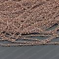(25502)Metal Jewelry Link Necklace Chains  Copper Antique Copper Chain width:2MM flat O chain with 2.5MM bead 5 Meter