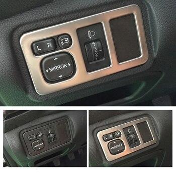Accessoires de style de voiture pour Changan CX70 acier inoxydable bouton de commande de phare de voiture panneau décoratif cadre autocollants intérieurs