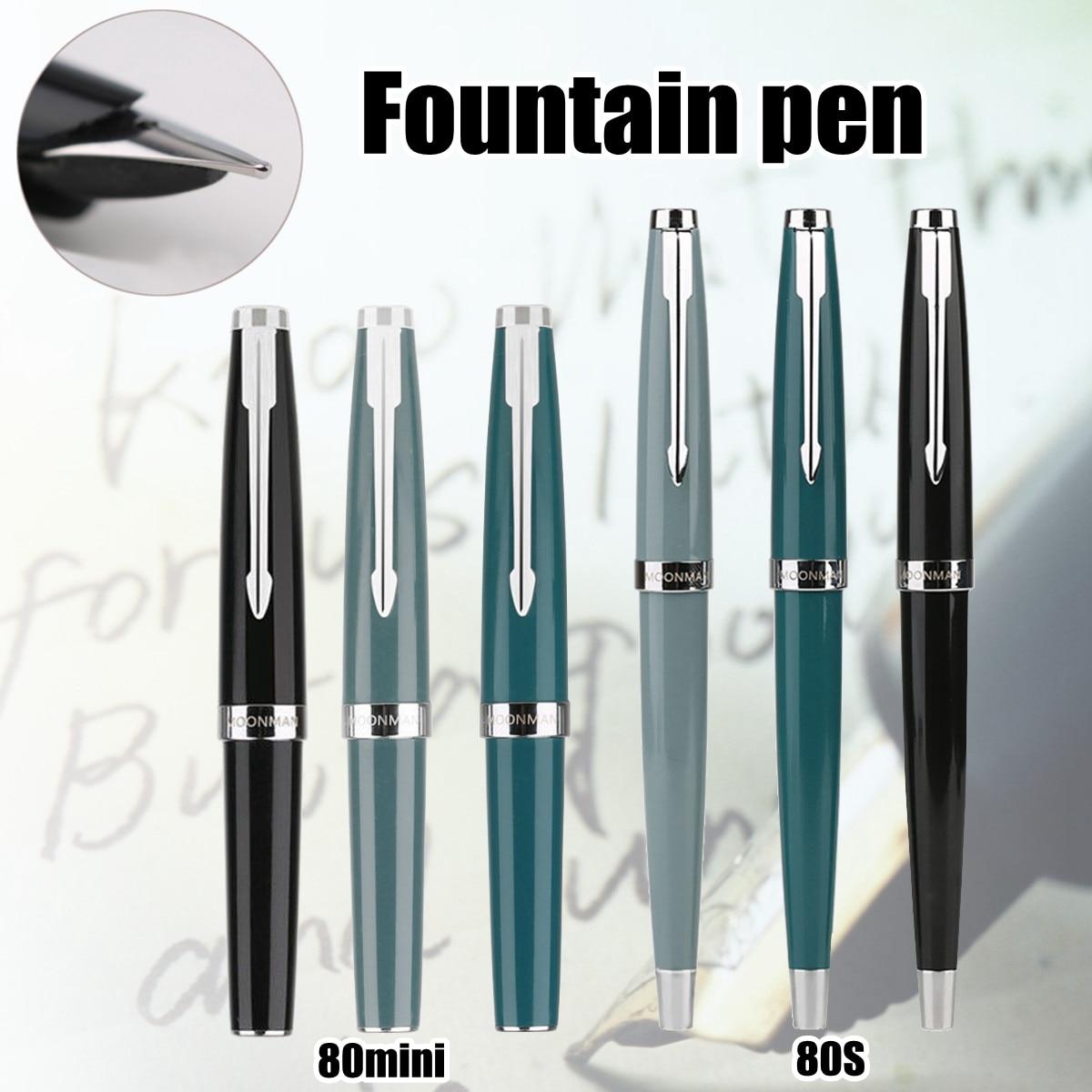 MOONMAN 80s 80 MINI P ocket Fountain Pen Fine Nib Find Classic Series Pen Fountain Pen genium hero 100 pen total steeless 14k golden fine nib fountain pen