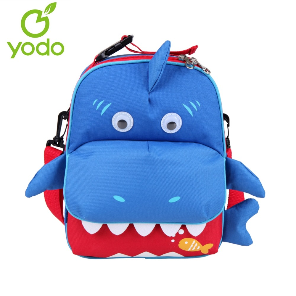Yodo New Kids Babys Backpack 3D Shark 3-Way Toddler Bags Insulated Thermal  Mochila Escolas Anti-Lost School Bags For Girls Boys