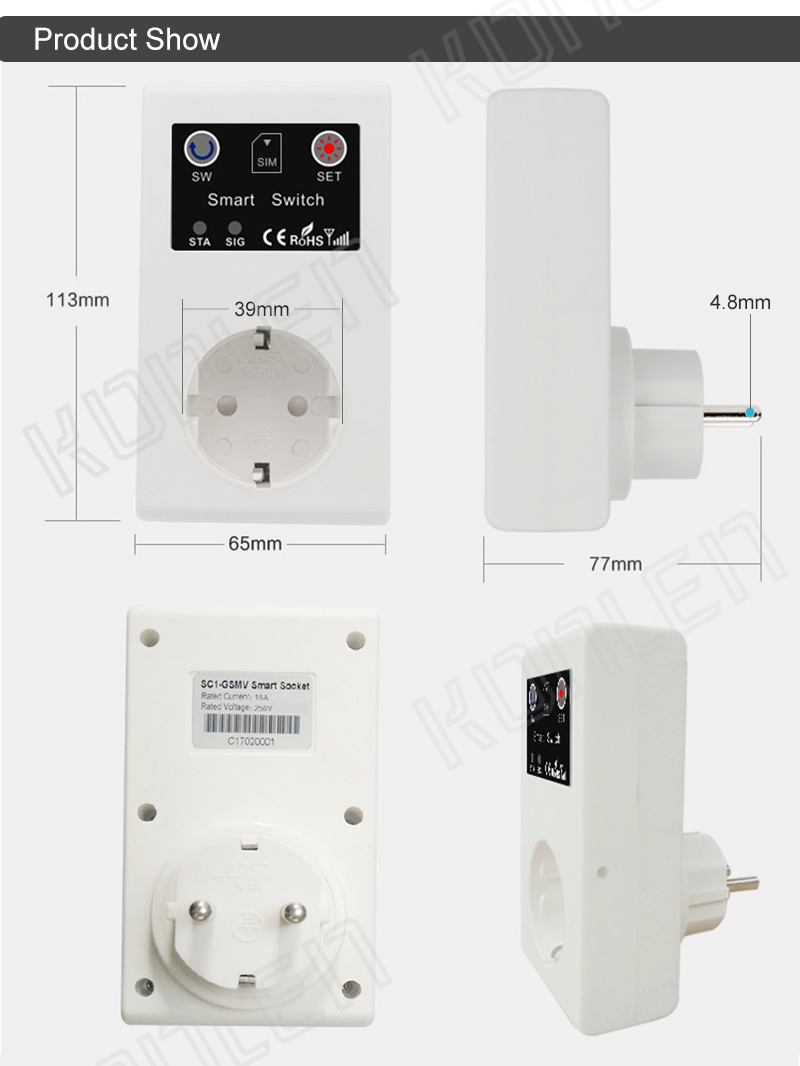 16A GSM socket remote control switch 13