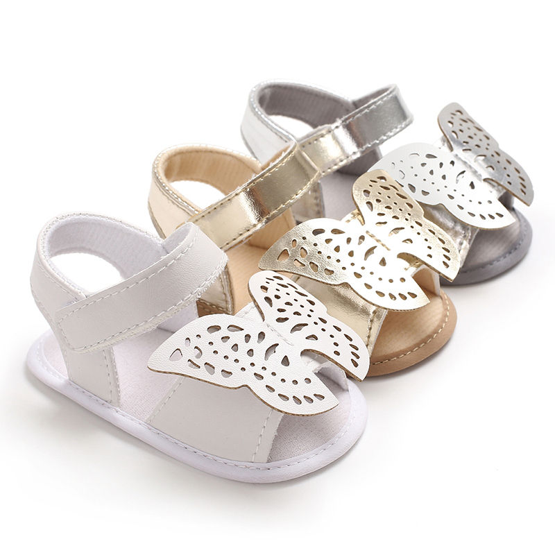 2020  Brand New Newborn Toddler Infant Baby Boys Girls Soft Sole Crib Shoes Cute PU Butterfly Summer Sandals Shoes