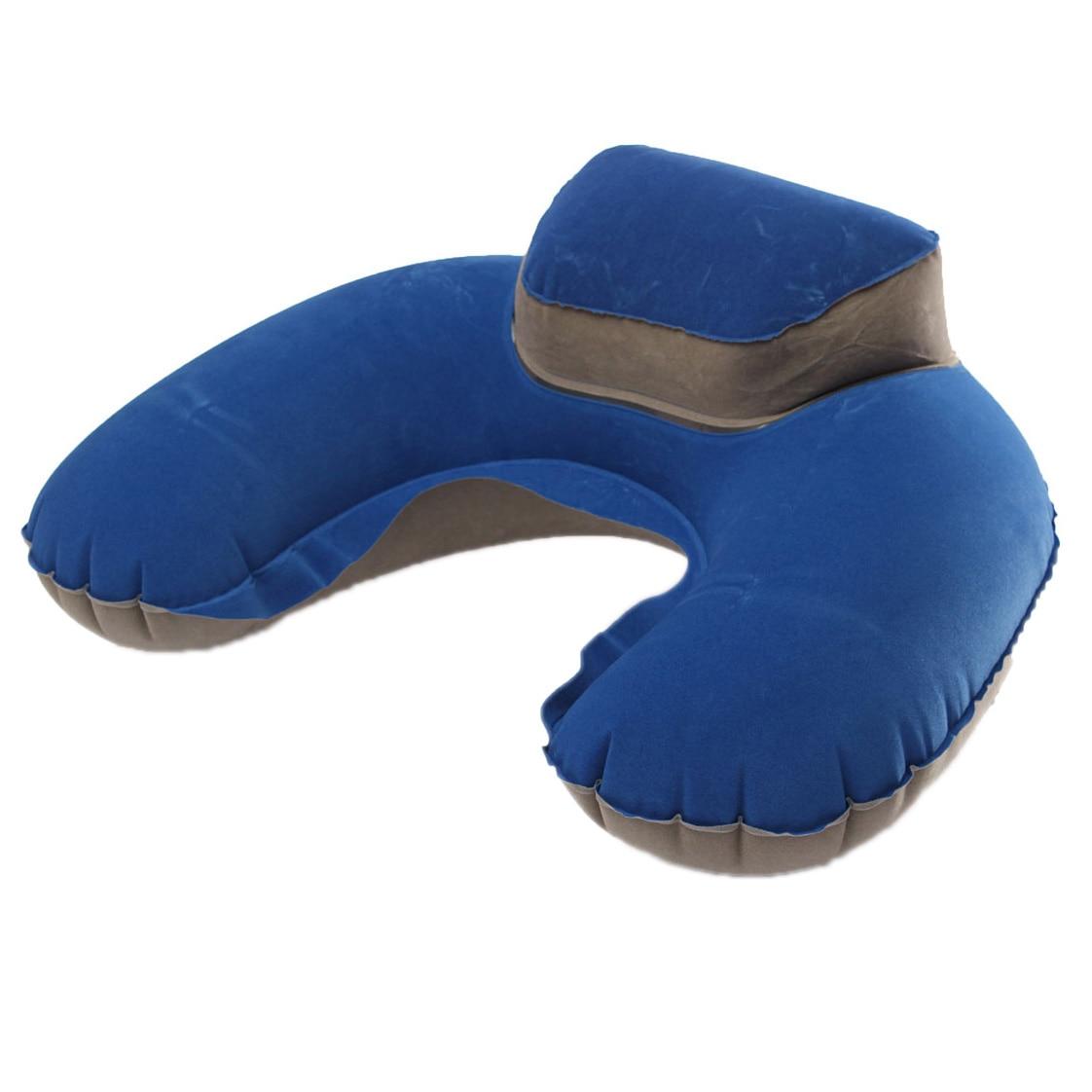 Phfu Inflatable Neck Pillow Soft Travel Air Cushion Sleep