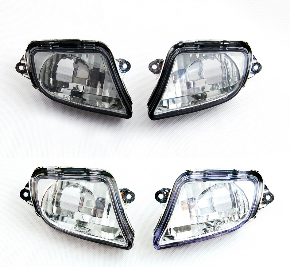 Areyourshop For Honda CBR1100XX 1999-2006 Motorcycle Replacement Front Turn Signals Light Lens Certified Blinker Cover