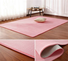 Coral velvet carpet living room coffee table blanket bedroom bedside mat bed front room rug Tatami yoga mat 140cmx200cm pink rug(China)