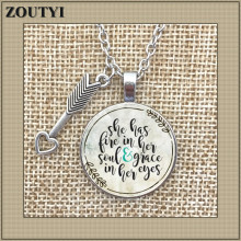Hot-selling her soul and grace have EYES CHARM pendant, inspirational charm necklace, a gift for her.