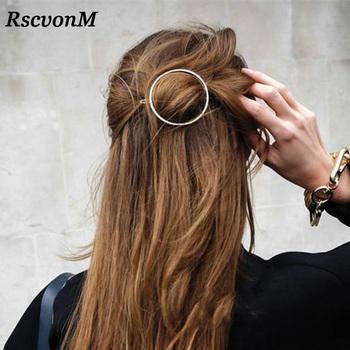 Najwyższej jakości złoto srebro kolor Metal trójkąt szpilka dziewczyny spinki do włosów kobiety moda akcesoria do włosów koło spinki do włosów spinki do włosów tanie i dobre opinie Ze stopu cynku TRENDY Hairwear C867-C873 ROUND