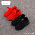 New 2016 Black Red Girls Track Shoes For Children Kids Sneakers