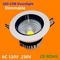 Dimmable 3 Вт/5 Вт/7 Вт/9 Вт/12 Вт COB светодиодный светильник Встраиваемый светодиодный потолочный светильник Точечный свет lampsforгостиная кухня 50 шт.