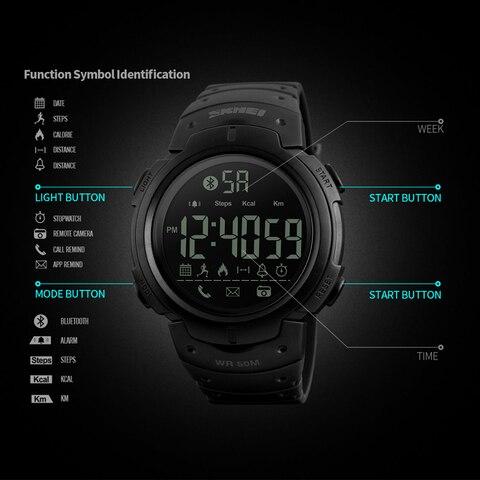 Luxury Brand SKMEI Sport Men Smart Watch Waterproof Calorie Pedometer Military Wristwatch Fashion Men Sports Watches Bracelet Lahore