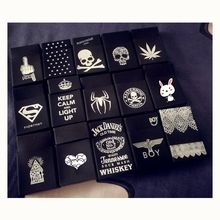 Black Soft Silicone Pocket Men Cigarette Case Cover Superman Jack Spider Lace Smoking Women Cigarette Box Cigarettes Pack Case(China)
