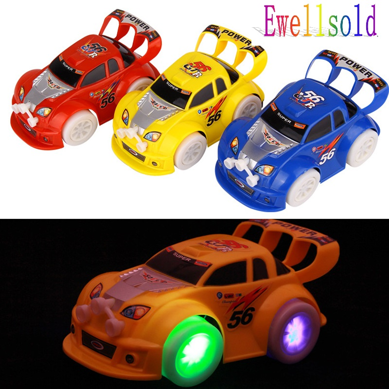 Best Gift Stunning universal Turning Plastic Cute Toy Cars for Child Electric Toy Car Model Kids Toys for Boys Free shipping