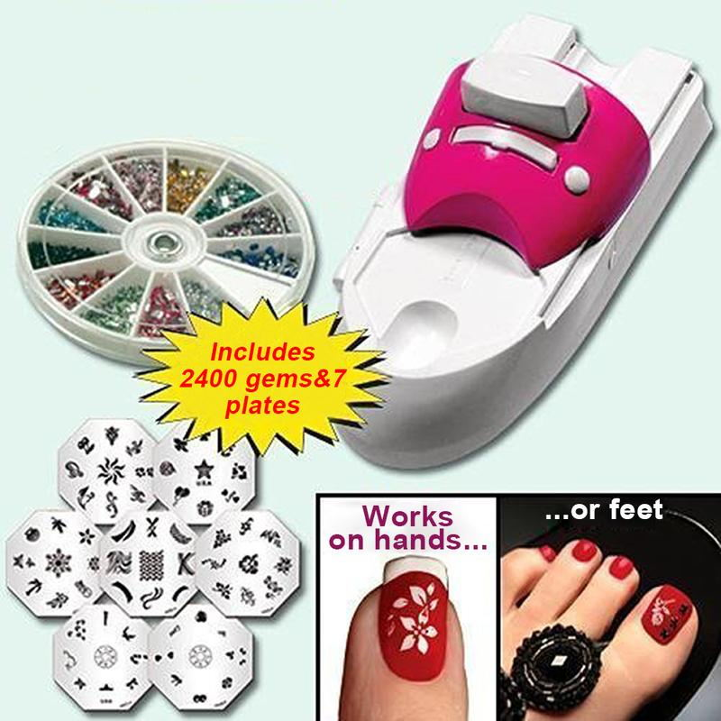 Creativo nuovo Strumenti di Bellezza Del Chiodo Pittura Arti Dispositivo Kit All-In-One Nails Art Macchina Per Le Donne Nail kit di stampa regali