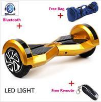 Selbst Balance Roller Hoverboard Bluetooth 8 zoll Zwei Rädern Hoverboards LED Licht Electrico Roller Skateboard-in Selbstbalancierende Scooter aus Sport und Unterhaltung bei