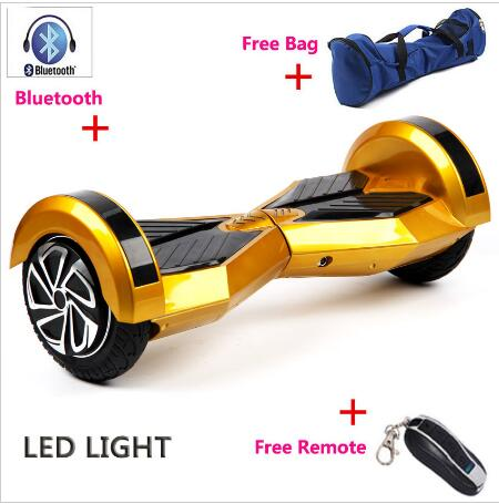 Self Balance Scooters Hoverboard Bluetooth 8 inch Two Wheels Hoverboards LED Light Electrico Scooter Skateboard hoverboard 6 5inch with bluetooth scooter self balance electric unicycle overboard gyroscooter oxboard skateboard two wheels new