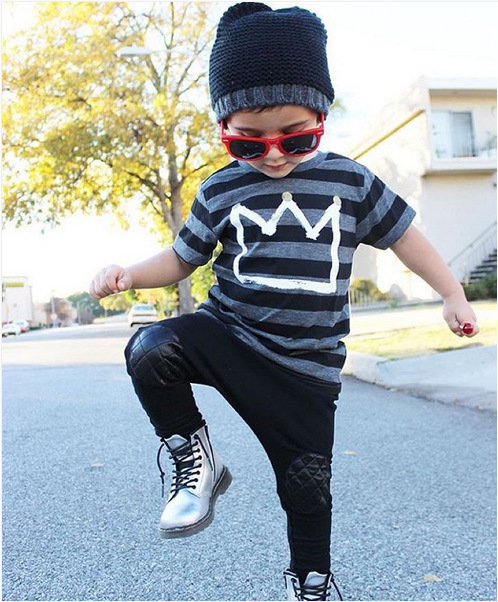 2016 summer clothing set boys striped T-shirts+pants baby boys girls clothing kids clothes children sport suits 2 piece set