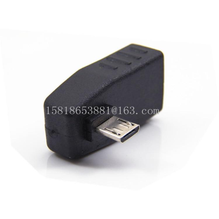 Hoge Kwaliteit Pvc 90 Graden Links Schuine Micro Usb 2.0 Otg Host Adapter Voor S3 S4 S5 N2