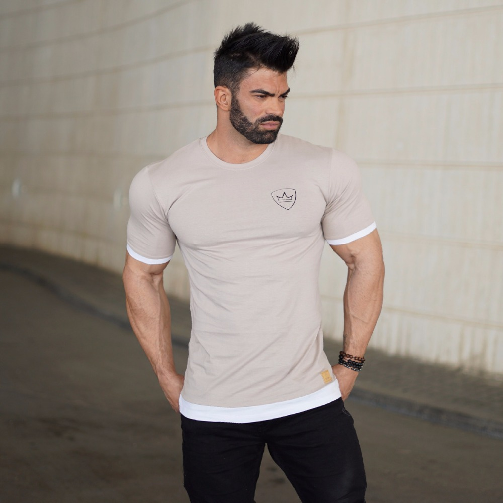 """New Men/'s /""""Be Legend/"""" Printed GYM Fitness Muscle Tee Workouts Slim Fit T-shirts"""