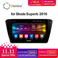 Ownice C500+ G10 10.1 Octa Core Android 8.1 Car radio player for Skod Superb 2016 With GPS Radio 2G RAM 32G ROM 4G LTE DAB