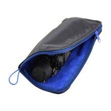 1 шт., сумка для зонта из Сверхтонких волокон, впитывающая воду, для портативного, водонепроницаемая и Абсорбирующая, чехол для зонта, органайзер для хранения