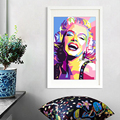 Marilyn Monroe ölgemälde Handgemachte Marilyn Monroe Zitate leinwand malerei wand bilder für wohnzimmer hotel wand dekoration-in Malerei und Kalligraphie aus Heim und Garten bei
