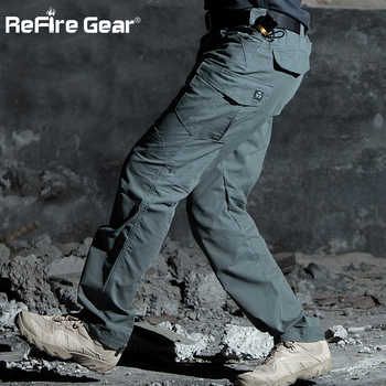 ReFire Gear M3 Waterproof Tactical Military Pants Men SWAT Special Army Combat Cargo Pants Multi Pocket Rip-stop Cotton Trousers - DISCOUNT ITEM  35% OFF All Category