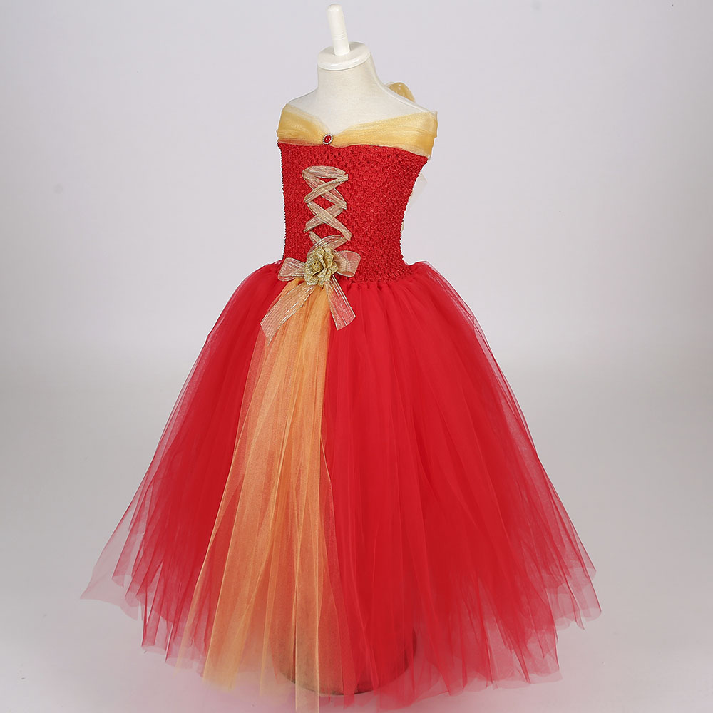 red gold christmas tutu dress for baby girls happy new year christmas theme party clothes with headband for halloween holidays in dresses from mother kids
