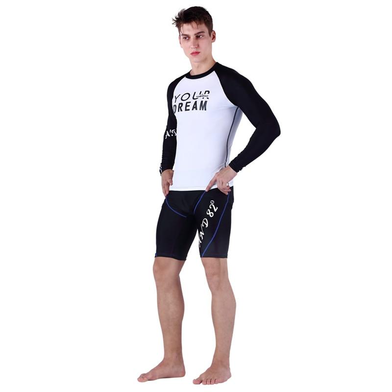 Swimwear Rashguard Men Surf Clothing Diving Suits Long Sleeves Shirt Short Pants Swim Suit Spearfishing Kitesurf Men Rash Guard