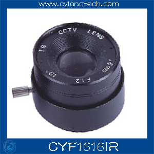 Free Shipping 6 PCS.1/3'' F1.6 CS  Fixed Iris  16mm IR Lens  CCTV Camera Professional Lens 8mm 12mm 16mm cctv ir cs metal lens for cctv video cameras support cs mount 1 3 format f1 2 fixed iris manual focus
