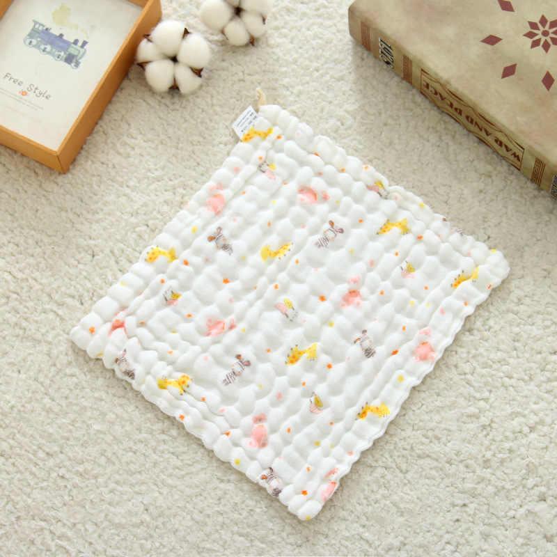 Color de la historieta 5 pzas/lote la toalla suave lavada del pañuelo de Organza Toalla de cara de los niños recién nacidos 100% Toalla de muselina de algodón