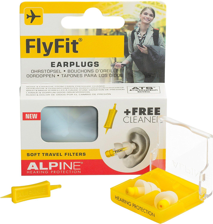 Alpine Fly Fit Earplugs flying earplugs air plane pressure balance ear pain reduce noise gift travel and sleep helper