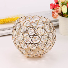 Crystal Candle Holders For Wedding Table Centerpieces Dining Room Valentines Day Home Decorative Lantern