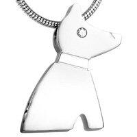 IJD8185 [Dobre Pies] biżuteria wisiorek ze stali nierdzewnej 316L Pet memorial popiołów uchwyt keepsake kremacja urna naszyjnik Hurtownie