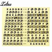 Zebra 1Pcs Guitar Neck Fretboard Note Map Fret Sticker Lables Decals Learn Fingerboard Guitar Fingerboard Sticker