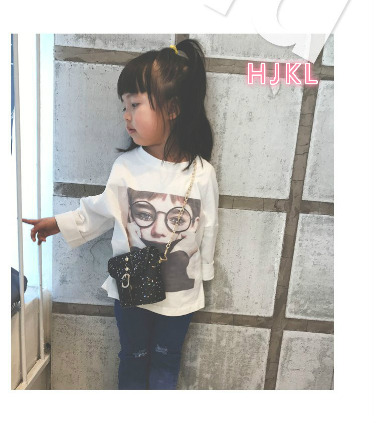 The new girl inclined shoulder bag princess beauty fashion baby sequined single shoulder ba
