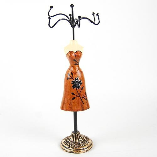 Free shipping carved belle dressed cheong-sam jewellery holder/ carved belle table ornament, MOQ: 1 piece