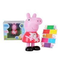 Genuine PEPPA PIG 2018 color changeable Teddy bear kids toy Doll with sound children's Birthday gift Hot Original box