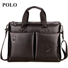 POLO 2017 Men messenger bags genuine leather bag men briefcase designer handbags high quality famous brand business men bag