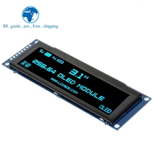 "TZT 실제 OLED 디스플레이 3.12 ""256*64 25664 도트 그래픽 LCD 모듈 디스플레이 화면 LCM 화면 SSD1322 컨트롤러 지원 SPI"